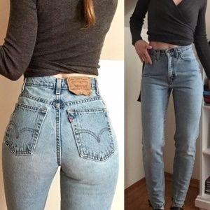 Vintage levis 512 mom jeans high rise light wash